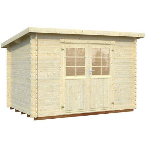 28 mm Gartenhaus Lyon 1 - ca. 320x220 cm - Gerätehaus Holzhaus Blockhaus