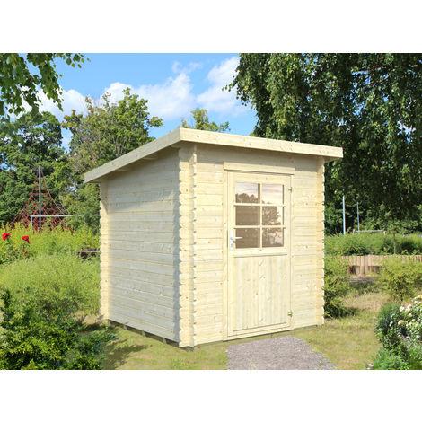 28 mm Gartenhaus Pulti - ca. 210x210 cm - Gerätehaus Holzhaus Blockhaus