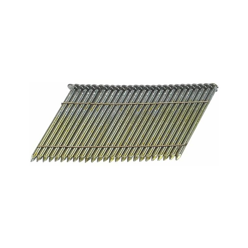 Image of 28° Bright Ring Shank Stick Nails 3,1 x 90mm Pack of 2000 (BOSS310R90)