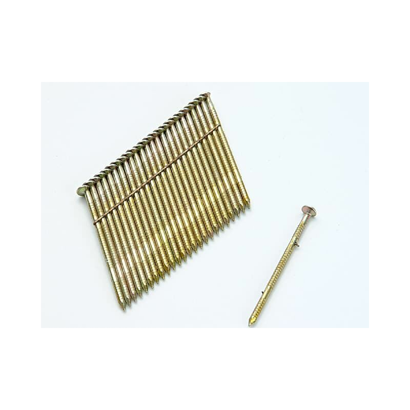 Image of 28° Galvanised Ring Shank Stick Nails 3,1 x 90mm Pack of 2000 (BOSS310R90G8)