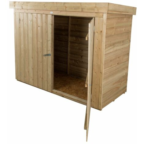"2'8"" x 6'3"" Pent Large Outdoor Store - Pressure Treated (1.9m x 0.9m)"