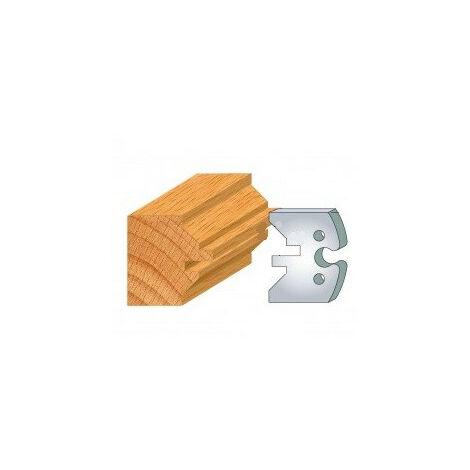 280 : jeu de 2 fers 50 mm lame de volet pour porte outils 50 mm