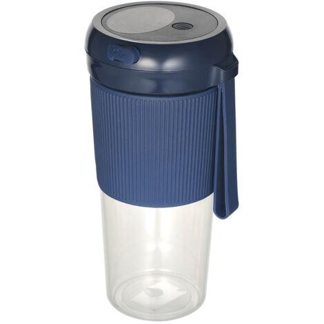 280Ml Juicer Electrique Fruit Smoothie Maker Usb Rechargeable Blender Machine Sport Mini Bouteille Alimentaire Coupe Juicing, Bleu