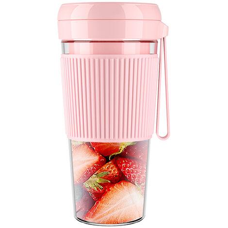 280Ml Juicer Electrique Fruit Smoothie Maker Usb Rechargeable Blender Machine Sport Mini Bouteille Alimentaire Coupe , Rose
