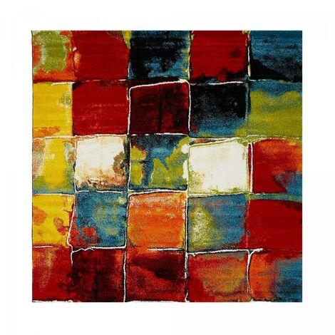 280x380 - UN AMOUR DE TAPIS - BELO 2- - Grand Tapis Moderne Design tapis salon et Salle a Manger - Tapis multicolor - Plusieur dimensions disponibles