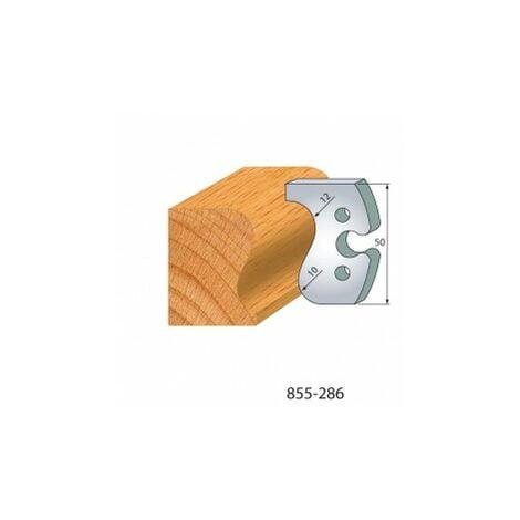 286 : jeu de 2 fers 50 mm main courante pour porte outils 50 mm