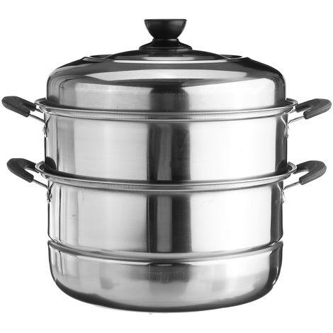 28cm 3-Tier Stainless Steel Steamer Pan