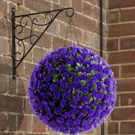 28CM Artificial Rose Topiary Flower Ball Hanging Outdoor