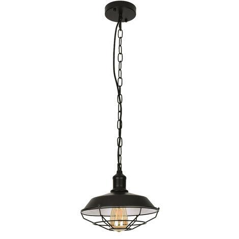 28CM Lámparas de techo retro Lámparas colgantes iluminación colgante Negro