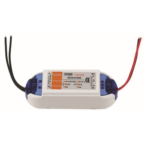28W Compact LED Driver AC 230V to DC12V Power Supply Transformer