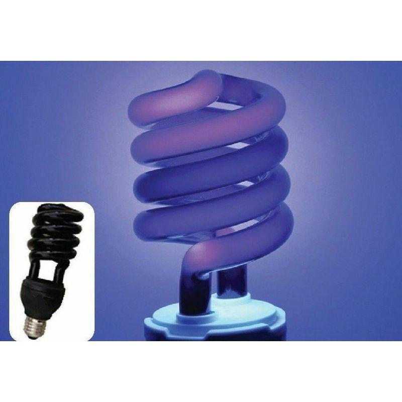 28W Lampadina Nera E27 A Spirale UV Luce Effetto Fluorescente Da Discoteca