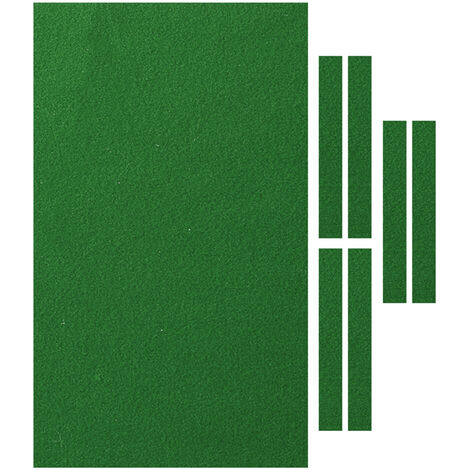 2.8x1.4m Pool Table Cloth Felt + 6x Strips For 9FT Snooker Pool Billiards Table green with Rail Cover
