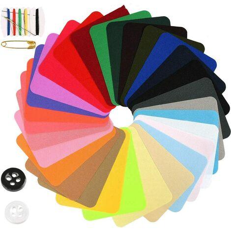 29 Pcs Patchs Thermocollants pour Réparation de Jean et Décoration de Bricolage, Patch Denim à Repasser et à Coudre Multicolore 9,5 x 12,5 cm