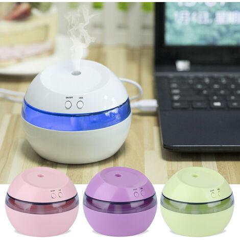 290ml humidificateur d'air ultrasonique Aroma Huile Essentielle Diffuseur USB brumisateur Mist Maker avec LED Night Light pour Home Office, Rose