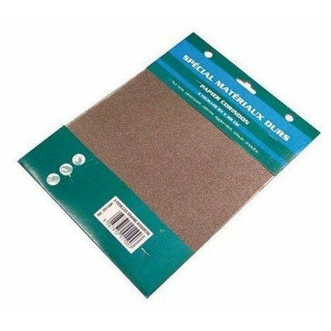 2911002 papier corindon 3 feuilles grain fin
