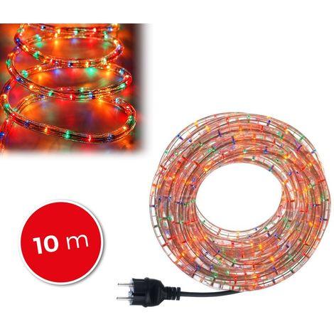 291241 Tubo navideño con 360 luces efecto multicolor para exteriores (10m)
