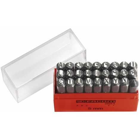 Facom 292A.5 5Mm Set Of 26 Letter Punches And Punch