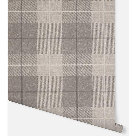 294903 - Country Tartan Taupe - Arthouse Wallpaper