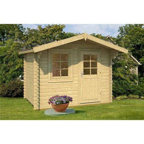 2.9m x 2.2m Budget Apex Log Cabin (220) - Single Glazing (28mm Wall Thickness)