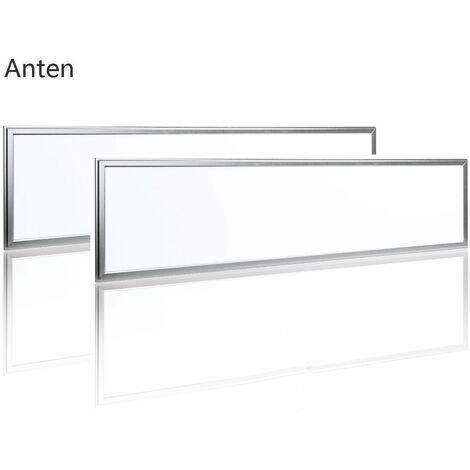 2×Anten Panneau Dalle LED 40W 30×120CM Dalle LED Lumineuse Plafond Blanc Chaud 3000-3500K