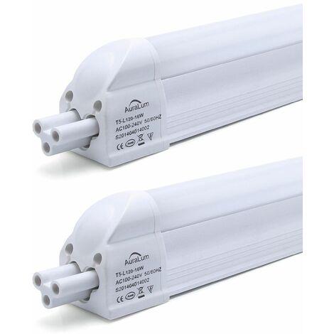 2×Anten T5 Tube LED 120CM Tube de Lumière Fluorescente 16W IP20 avec Réglette Complète Blanc Neutre 4000K