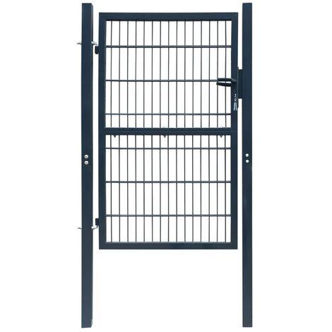 2D Fence Gate (Single) Anthracite Grey 106 x 170 cm