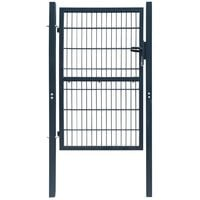 2D Fence Gate (Single) Anthracite Grey 106 x 170 cm