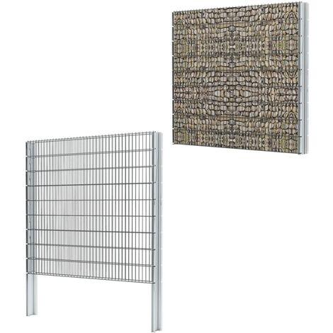 2D Gabion Fence Galvanised Steel 2008x1830 mm 2 m Grey