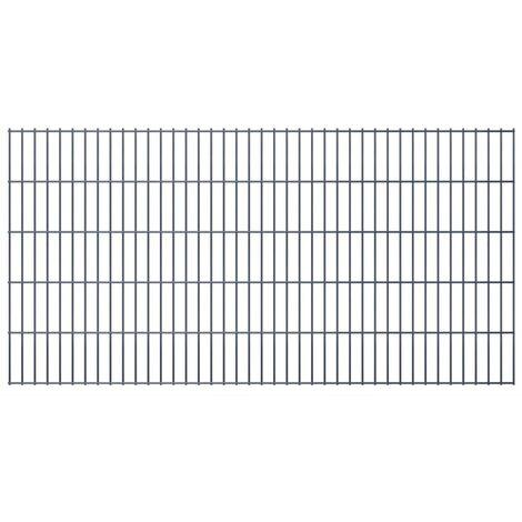 2D Garden Fence Panel 2008x1030 mm Grey
