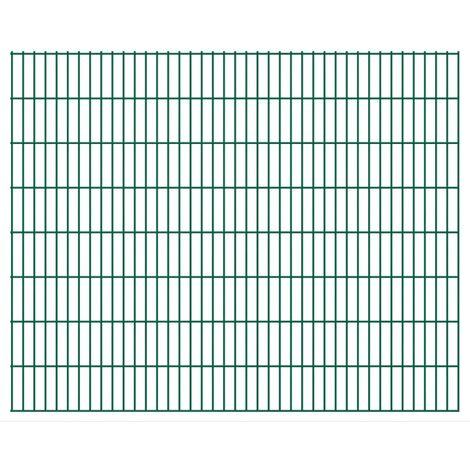 2D Garden Fence Panel 2008x1630 mm Green