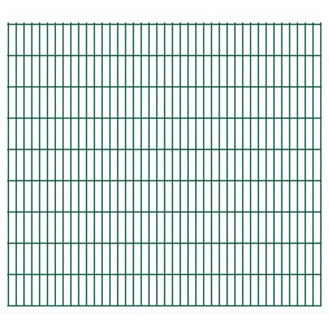 2D Garden Fence Panel 2008x1830 mm Green