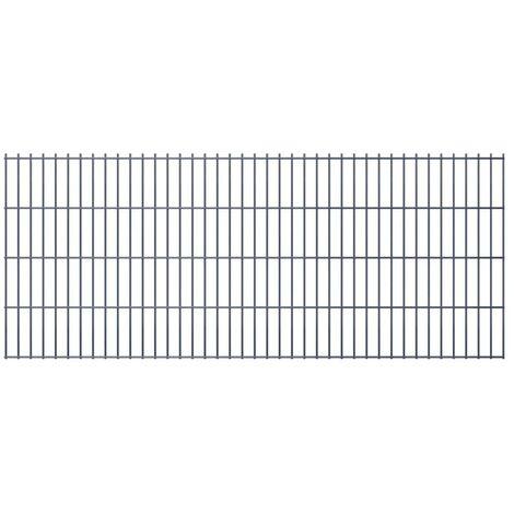 2D Garden Fence Panel 2008x830 mm Grey