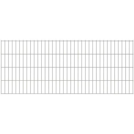 2D Garden Fence Panel 2008x830 mm Silver