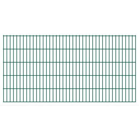 2D Garden Fence Panels 2008x1030 mm 10 m Green