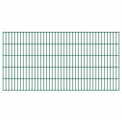 2D Garden Fence Panels 2008x1030 mm 22 m Green
