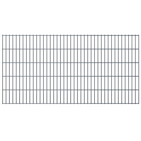 2D Garden Fence Panels 2008x1030 mm 28 m Grey