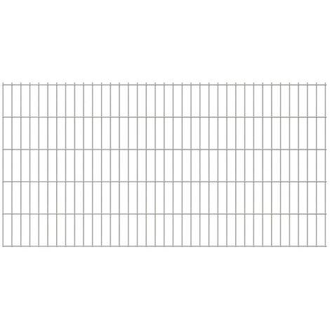 2D Garden Fence Panels 2008x1030 mm 28 m Silver