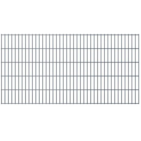 2D Garden Fence Panels 2008x1030 mm 30 m Grey