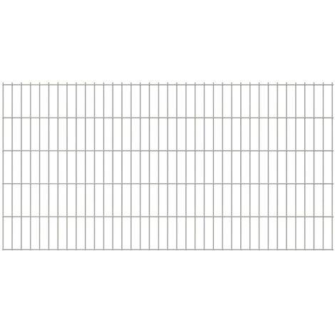 2D Garden Fence Panels 2008x1030 mm 34 m Silver