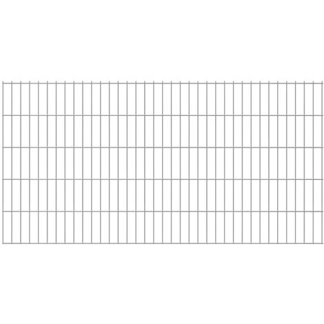 2D Garden Fence Panels 2008x1030 mm 44 m Silver