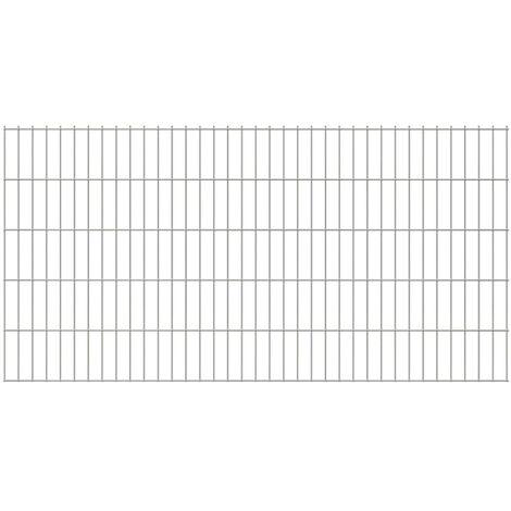 2D Garden Fence Panels 2008x1030 mm 48 m Silver