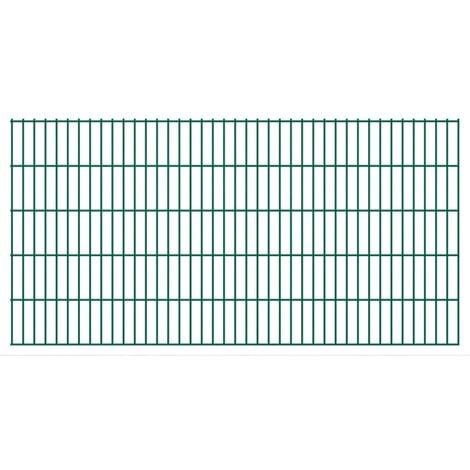 2D Garden Fence Panels 2008x1030 mm 6 m Green