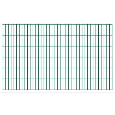 2D Garden Fence Panels 2008x1230 mm 4 m Green