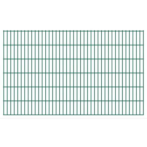 2D Garden Fence Panels 2008x1230 mm 6 m Green