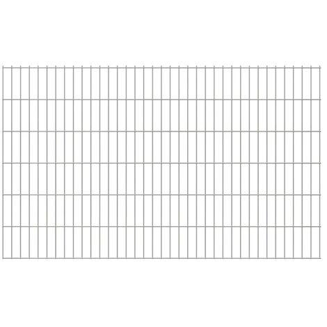 2D Garden Fence Panels 2008x1230 mm 6 m Silver