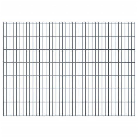 2D Garden Fence Panels 2008x1430 mm 42 m Grey