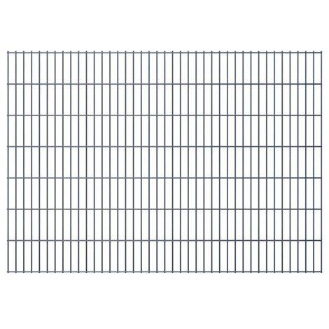 2D Garden Fence Panels 2008x1430 mm 44 m Grey