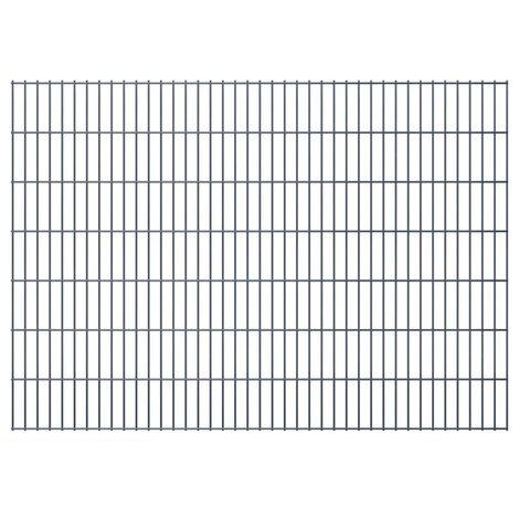 2D Garden Fence Panels 2008x1430 mm 46 m Grey