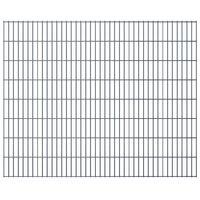 2D Garden Fence Panels 2008x1630 mm 12 m Grey