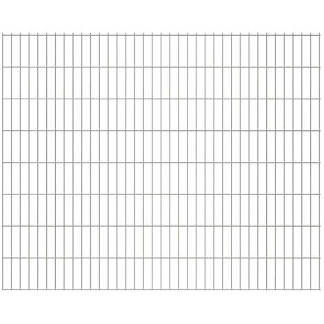 2D Garden Fence Panels 2008x1630 mm 24 m Silver